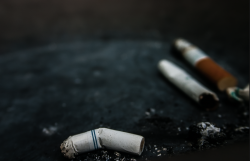 cigaretes in an ashtray