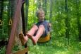 A boy swings